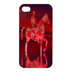 Riding At Dusk Apple Iphone 4/4s Premium Hardshell Case by icarusismartdesigns