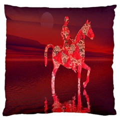 Riding At Dusk Large Cushion Case (single Sided)  by icarusismartdesigns