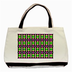 Pattern Twin Sided Black Tote Bag by Siebenhuehner