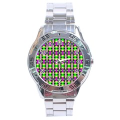 Pattern Stainless Steel Watch by Siebenhuehner