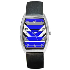 Pattern Tonneau Leather Watch by Siebenhuehner