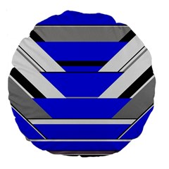 Pattern Large Flano Round Cushion