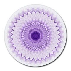 Mandala 8  Mouse Pad (round) by Siebenhuehner