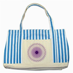 Mandala Blue Striped Tote Bag by Siebenhuehner
