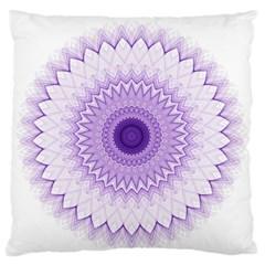 Mandala Large Flano Cushion Case (two Sides) by Siebenhuehner
