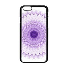 Mandala Apple Iphone 6 Black Enamel Case by Siebenhuehner