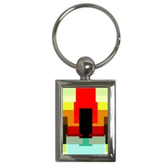 Pattern Key Chain (rectangle) by Siebenhuehner