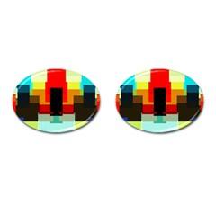 Pattern Cufflinks (oval) by Siebenhuehner