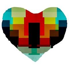 Pattern 19  Premium Heart Shape Cushion by Siebenhuehner