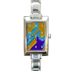 Pattern Rectangular Italian Charm Watch