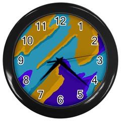 Pattern Wall Clock (black)