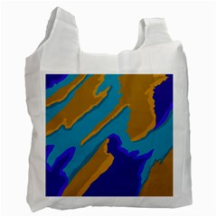 Pattern White Reusable Bag (one Side)