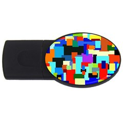 Pattern 2gb Usb Flash Drive (oval) by Siebenhuehner