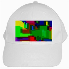 Pattern White Baseball Cap by Siebenhuehner