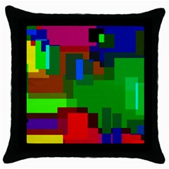 Pattern Black Throw Pillow Case
