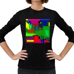 Pattern Women s Long Sleeve T Shirt (dark Colored)