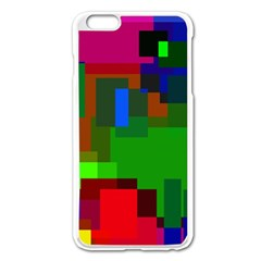 Pattern Apple Iphone 6 Plus Enamel White Case