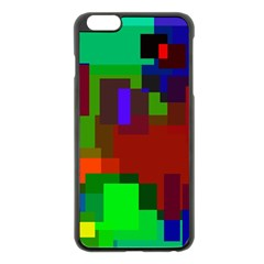 Pattern Apple Iphone 6 Plus Black Enamel Case