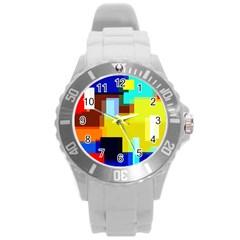 Pattern Plastic Sport Watch (large) by Siebenhuehner