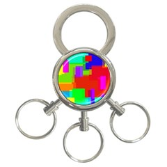 Pattern 3 Ring Key Chain