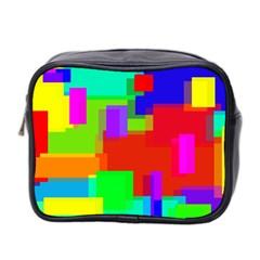 Pattern Mini Travel Toiletry Bag (two Sides) by Siebenhuehner