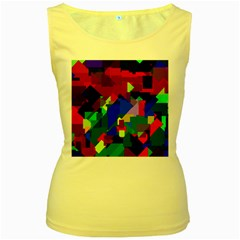Pattern Women s Tank Top (yellow)