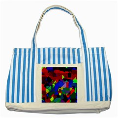 Pattern Blue Striped Tote Bag by Siebenhuehner