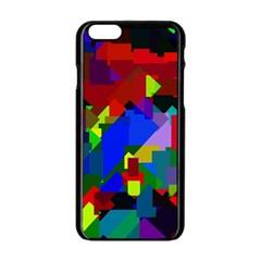 Pattern Apple Iphone 6 Black Enamel Case by Siebenhuehner