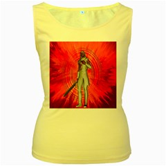 White Knight Women s Tank Top (yellow) by icarusismartdesigns