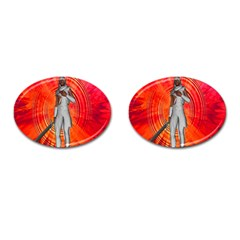 White Knight Cufflinks (oval) by icarusismartdesigns