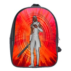 White Knight School Bag (large) by icarusismartdesigns