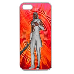 White Knight Apple Seamless Iphone 5 Case (clear) by icarusismartdesigns