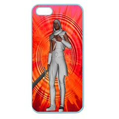 White Knight Apple Seamless Iphone 5 Case (color) by icarusismartdesigns