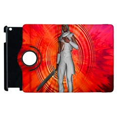 White Knight Apple Ipad 3/4 Flip 360 Case by icarusismartdesigns