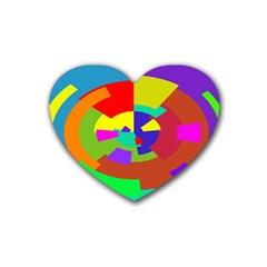 Pattern Drink Coasters (heart) by Siebenhuehner