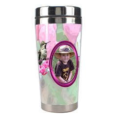 Bleeding Heart Stainless Steel Travel Tumlber Pink By Chere s Creations   Stainless Steel Travel Tumbler   Tnjjcean1zz2   Www Artscow Com Right