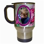 Bleeding Heart Travel Mug Pink - Travel Mug (White)