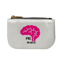 All Brains Leather  Coin Change Purse by OCDesignss