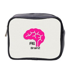 All Brains Leather  Mini Travel Toiletry Bag (two Sides) by OCDesignss