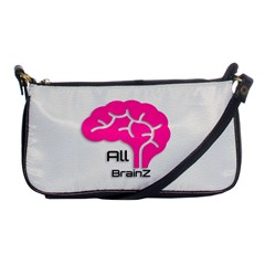 All Brains Leather  Evening Bag by OCDesignss