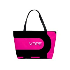 Hot Pink Black Vape  Large Shoulder Bag