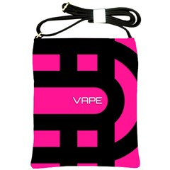 Hot Pink Black Vape  Shoulder Sling Bag by OCDesignss