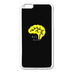 All Brains  Apple Iphone 6 Plus Enamel White Case by OCDesignss