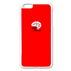 All Brains Red Apple Iphone 6 Plus Enamel White Case by OCDesignss