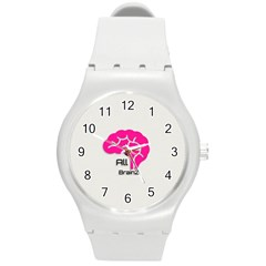All Brains Leather  Plastic Sport Watch (medium) by OCDesignss