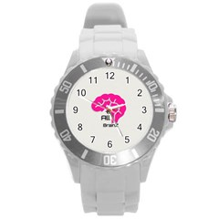 All Brains Leather  Plastic Sport Watch (large) by OCDesignss