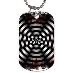 Zombie Apocalypse Warning Sign Dog Tag (two Sided)  by StuffOrSomething