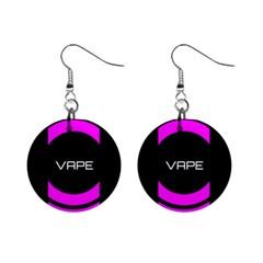 Vape Abstract Mini Button Earrings