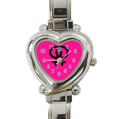 Girl Love  Heart Italian Charm Watch  by OCDesignss