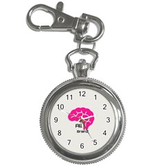 All Brains Leather  Key Chain Watch by OCDesignss